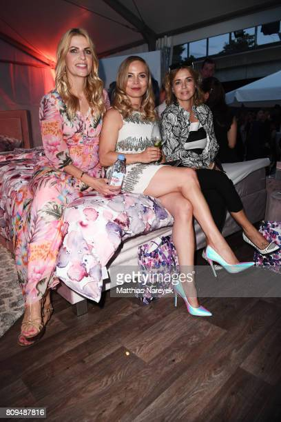 Regina Halmich Tanja Buelter and Tina Ruland attend the Guido Maria Kretschmer Fashion Show Autumn/Winter 2017 at Tempodrom on July 5 2017 in Berlin...
