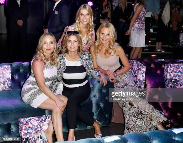 Regina Halmich Tina Ruland Tanja Buelter and Sonja Kiefer attend the Guido Maria Kretschmer Fashion Show Autumn/Winter 2017 presented by OTTO at...