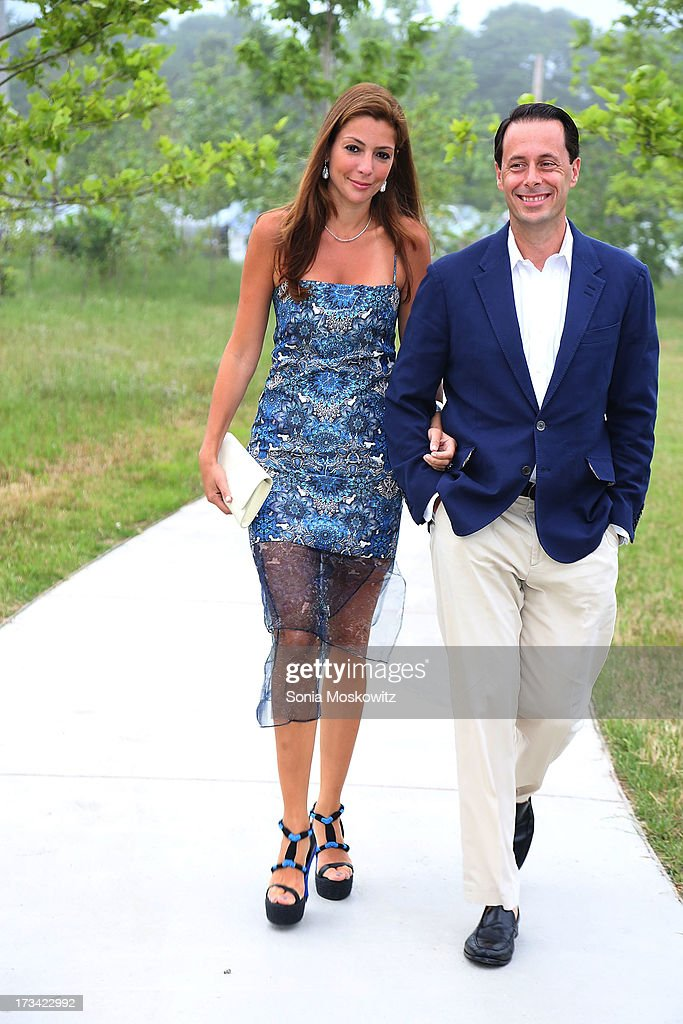Regina Haymes and Evan Haymes attend the Parrish Art Museum 2013 Midsummer Party on July 13, 2013 in Southampton, United States.