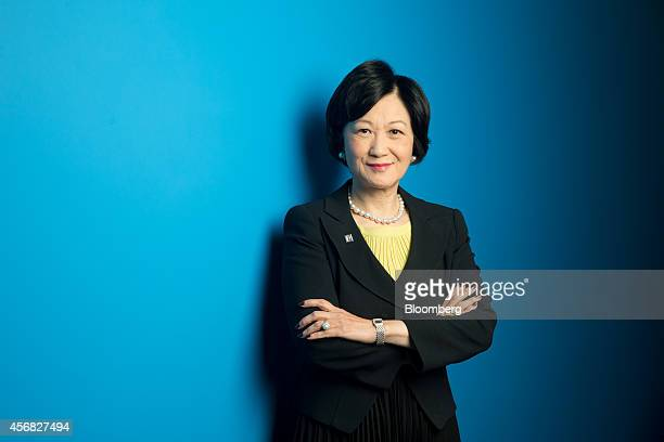 Regina Ip chairwoman of the New People's Party and member of Hong Kong's executive council poses for a photograph following a Bloomberg Television...