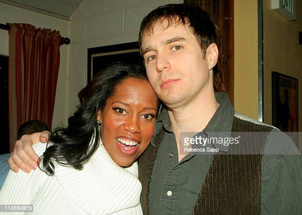 Regina King and Sam Rockwell during 2007 Park City Gran Centenario Tequila Hosts 'Snow Angels' Party at Windy Ridge Cafe in Park City Utah United...