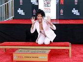 Oscar-Winner Regina King Places Her Handprints And...