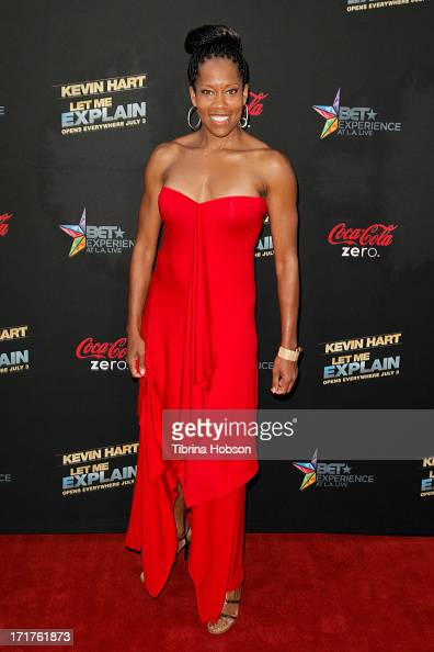 Regina King attends the 'Kevin Hart Let Me Explain' Los Angeles premiere at Regal Cinemas LA Live on June 27 2013 in Los Angeles California