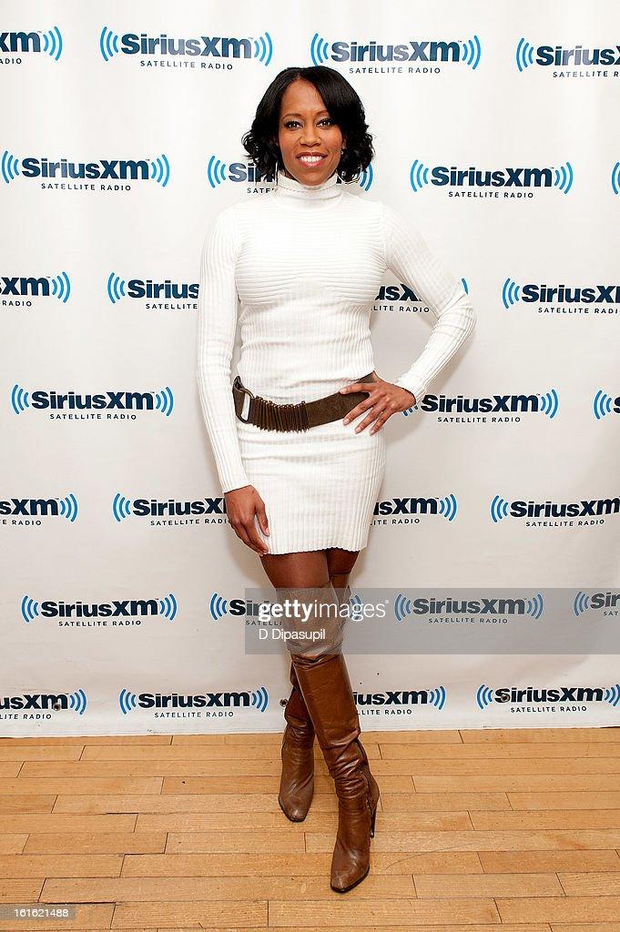 Regina King visits SiriusXM Studios on February 13, 2013 in New York City.