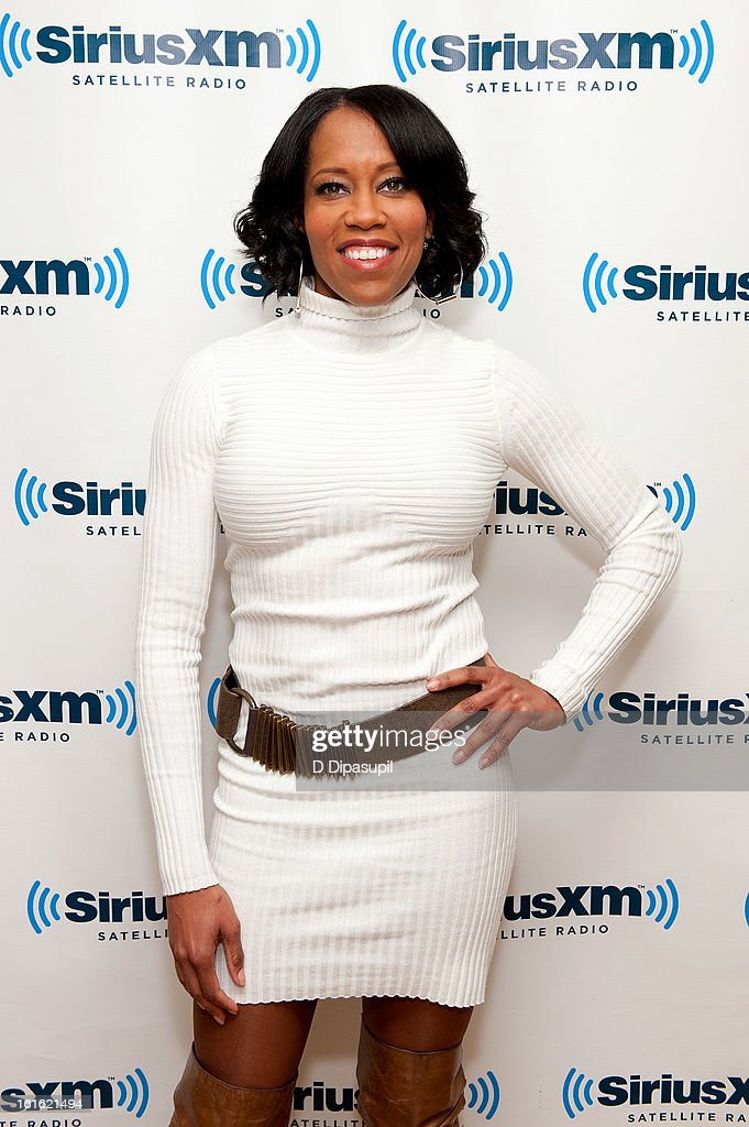 Regina King visits SiriusXM Studios on February 13, 2013 in New York City.