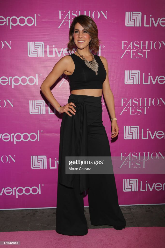 Regina Murguia attends the Liverpool Fashion Fest Autumn/Winter 2013 at Club de Banqueros on August 22, 2013 in Mexico City, Mexico.