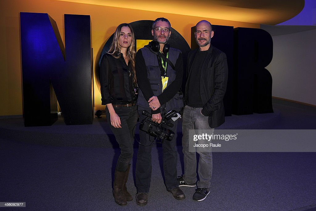 Regina Orioli, Federico Greco and <a gi-track='captionPersonalityLinkClicked' href=/galleries/search?phrase=Gianmarco+Tognazzi&family=editorial&specificpeople=4595741 ng-click='$event.stopPropagation()'>Gianmarco Tognazzi</a> attend Day 4 of the 23rd Courmayeur Noir In Festival on December 13, 2013 in Courmayeur, Italy.