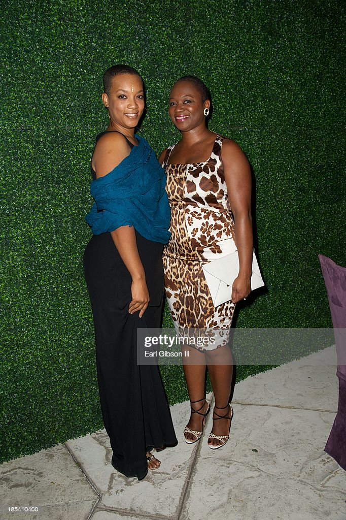 Regina Robertson and Vanessa Bush attend the House Of Flowers Gala on October 19, 2013 in Beverly Hills, California.