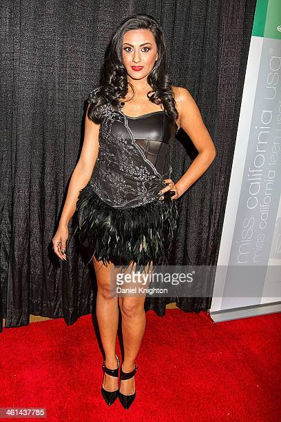 Regina Rodriguez arrives at the Miss California USA and Miss California Teen USA 2014 Pageant at Terrace Theater on January 4 2014 in Long Beach...