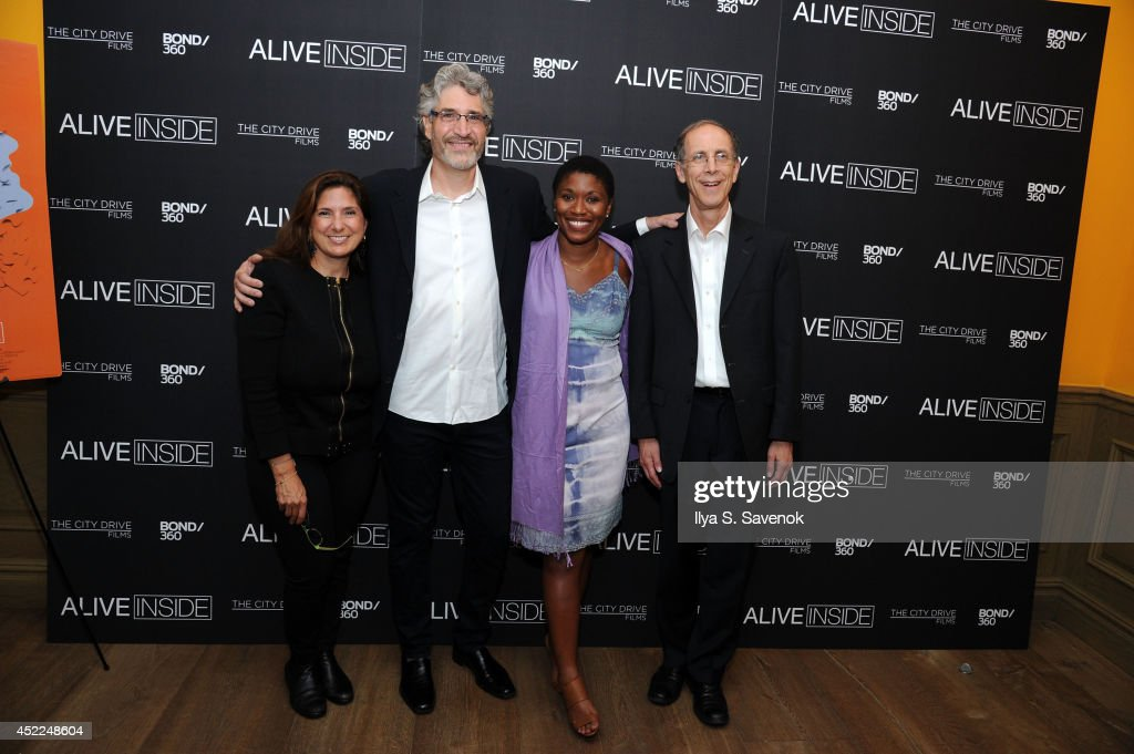 Regina Scully, Michael Rossato-Bennett, Alexandra McDougald and Dan Cohen attend the 'Alive Inside' premiere at Crosby Street Hotel on July 16, 2014 in New York City.