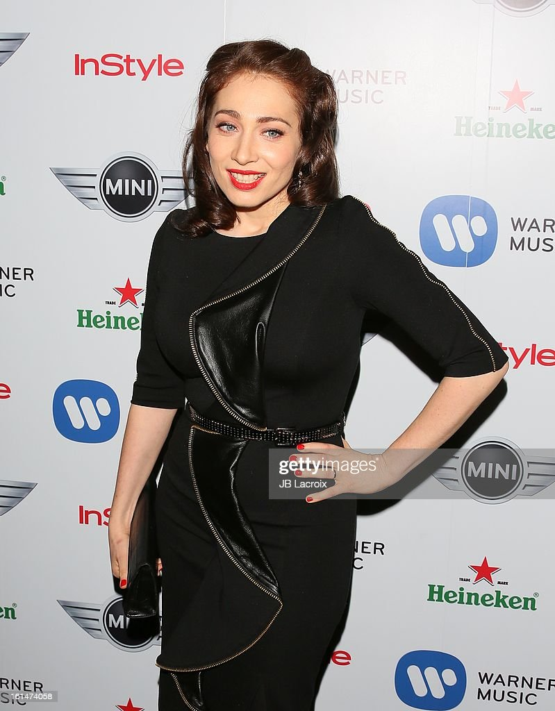 Regina Spektor attends the Warner Music Group 2013 Grammy Celebration Presented By Mini held at Chateau Marmont on February 10, 2013 in Los Angeles, California.