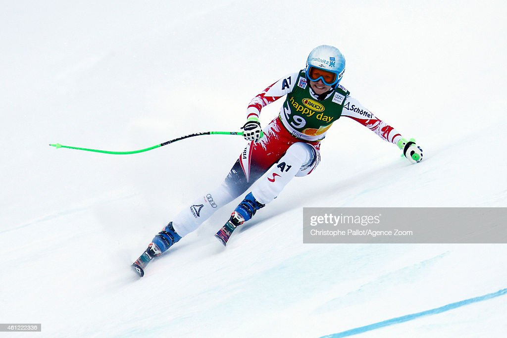 <a gi-track='captionPersonalityLinkClicked' href=/galleries/search?phrase=Regina+Sterz&family=editorial&specificpeople=10018281 ng-click='$event.stopPropagation()'>Regina Sterz</a> of Austria competes during the Audi FIS Alpine Ski World Cup Women's Downhill Training on January 09, 2015 in Bad Kleinkirchheim, Austria.