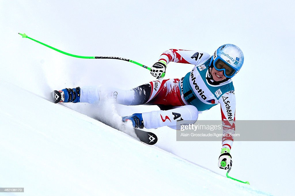 <a gi-track='captionPersonalityLinkClicked' href=/galleries/search?phrase=Regina+Sterz&family=editorial&specificpeople=10018281 ng-click='$event.stopPropagation()'>Regina Sterz</a> of Austria competes during the Audi FIS Alpine Ski World Cup Women's Super-G on January 25, 2015 in St. Moritz, Switzerland.