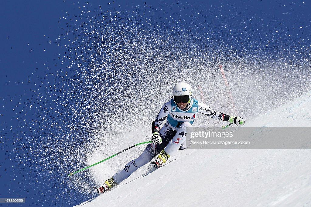 Regina Sterz of Austria competes during the Audi FIS Alpine Ski World Cup Finals Women's SuperG on March 13 2014 in Lenzerheide Switzerland