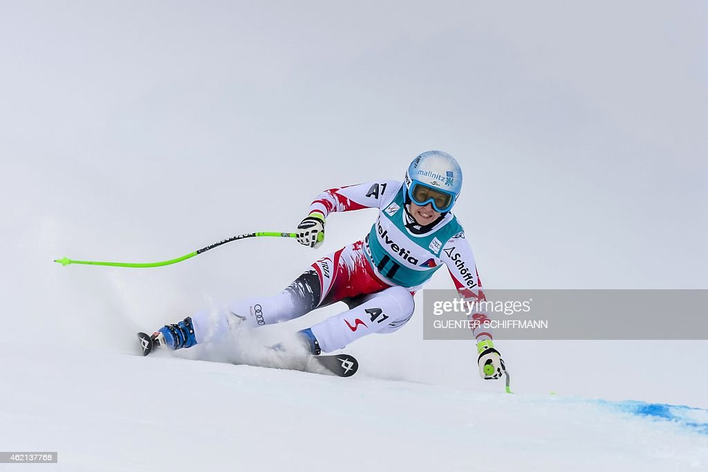 <a gi-track='captionPersonalityLinkClicked' href=/galleries/search?phrase=Regina+Sterz&family=editorial&specificpeople=10018281 ng-click='$event.stopPropagation()'>Regina Sterz</a> of Austria competes during the FIS women's Alpine Ski World Cup Super-G race in St. Moritz, on January 25, 2015.