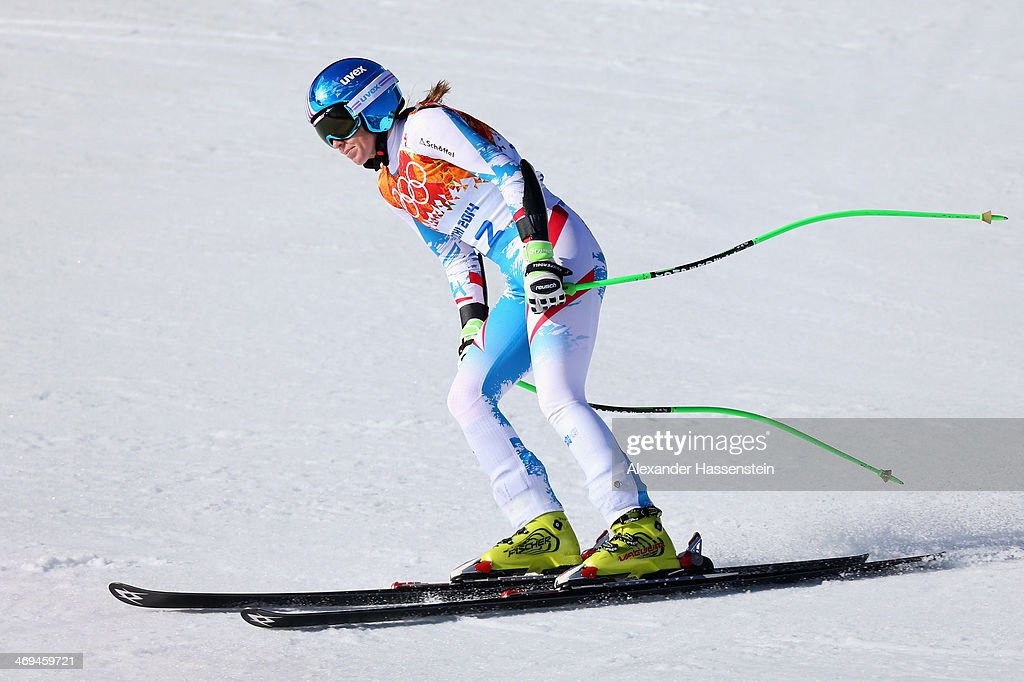 <a gi-track='captionPersonalityLinkClicked' href=/galleries/search?phrase=Regina+Sterz&family=editorial&specificpeople=10018281 ng-click='$event.stopPropagation()'>Regina Sterz</a> of Austria finishes a run during the Alpine Skiing Women's Super-G on day 8 of the Sochi 2014 Winter Olympics at Rosa Khutor Alpine Center on February 15, 2014 in Sochi, Russia.