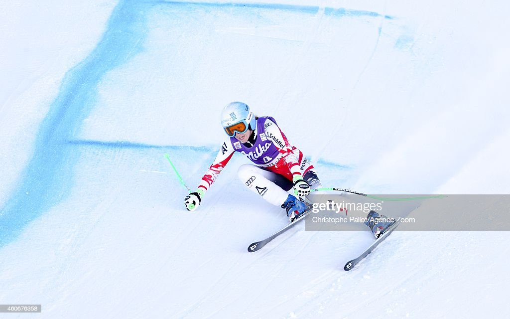 <a gi-track='captionPersonalityLinkClicked' href=/galleries/search?phrase=Regina+Sterz&family=editorial&specificpeople=10018281 ng-click='$event.stopPropagation()'>Regina Sterz</a> of Austria takes 3rd place during the Audi FIS Alpine Ski World Cup Women's Downhill Training on December 19, 2014 in Val d'Isere, France.