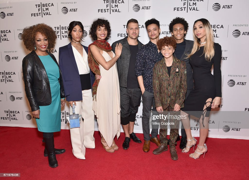 Regina Taylor, MJ Rodriguez, Indya Moore, Damon Cardasis, Marquis Rodriguez, Jaylin Fletcher, Luka Kain, and Alexia Garcia attend the 'Saturday Church' Premiere during the 2017 Tribeca Film Festival at Cinepolis Chelsea on April 23, 2017 in New York City.