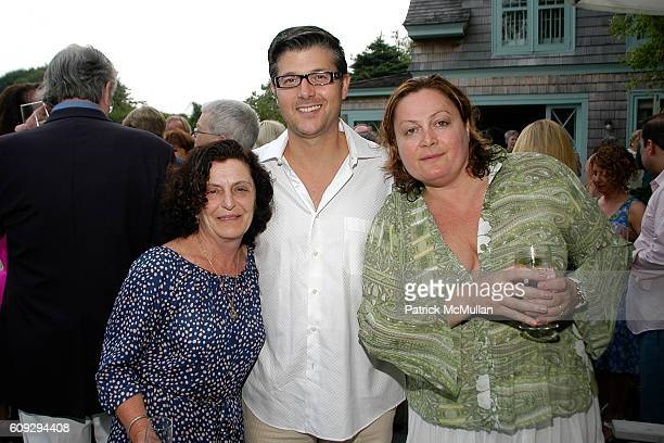 Regina Weinreich Frank Cilione and Inna DeSilva attend Frances Hayward Dinner to Honor HSUS President Wayne Pacelle at Grey Gardens on July 15 2007...
