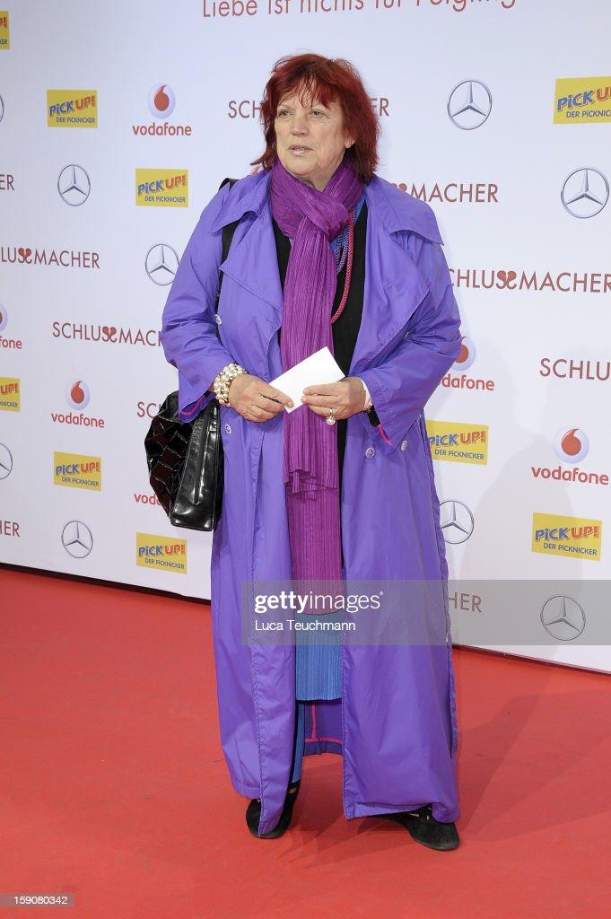Regina Ziegler attend the 'Der Schlussmacher' Berlin Premiere at Cinestar Potsdamer Platz on January 7, 2013 in Berlin, Germany.