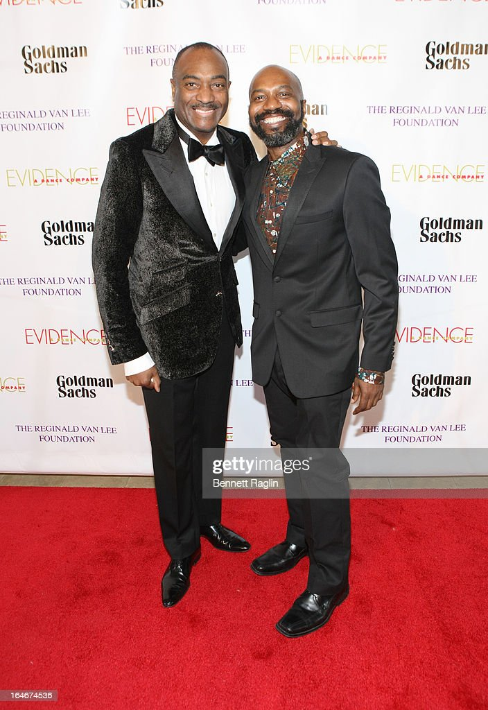 Reginald Van Lee and Ronald K. Brown attend the Evidence, A Dance Company 9th annual Torch Ball at The Plaza Hotel on March 25, 2013 in New York City.