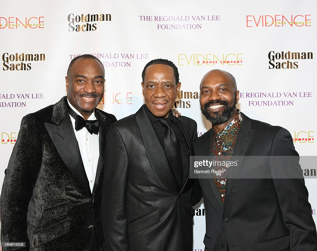 Reginald Van Lee, <a gi-track='captionPersonalityLinkClicked' href=/galleries/search?phrase=Freddie+Jackson+-+Singer&family=editorial&specificpeople=224742 ng-click='$event.stopPropagation()'>Freddie Jackson</a> and Ronald K. Brown attend the Evidence, A Dance Company 9th annual Torch Ball at The Plaza Hotel on March 25, 2013 in New York City.