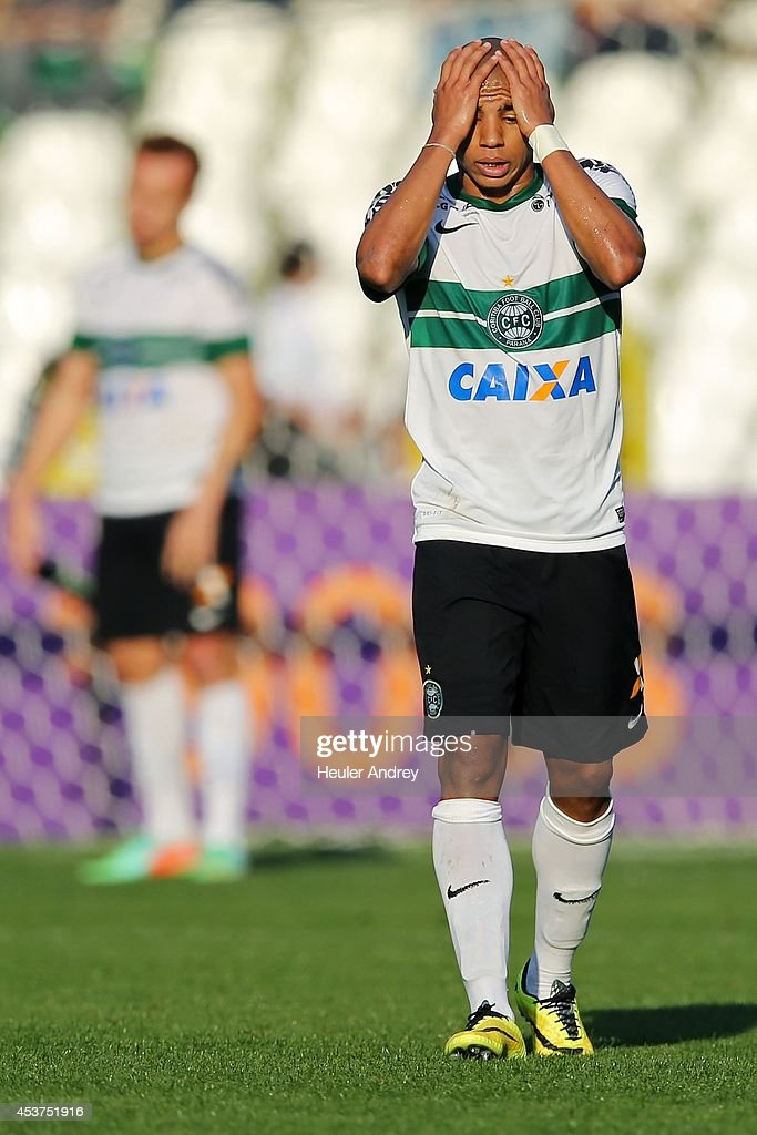 Reginaldo of Coritiba during the match between Coritiba and Flamengo for the Brazilian Series A 2014 at Couto Pereira stadium on August 17, 2014 in Curitiba, Brazil.