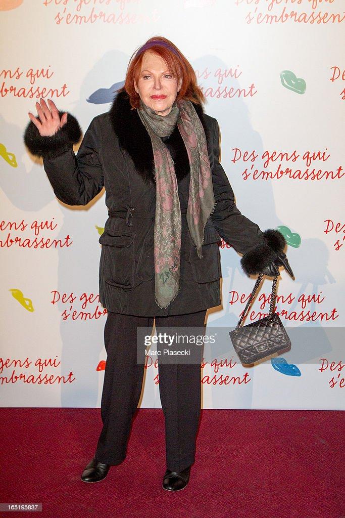 Regine attends the 'Des Gens Qui S'embrassent' Premiere at Cinema Gaumont Marignan on April 1, 2013 in Paris, France.