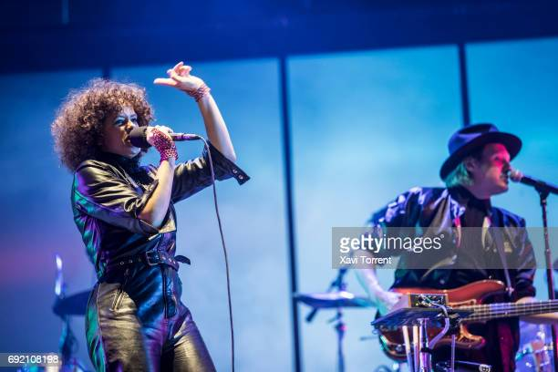 Regine Chassagne and Win Butler of Arcade Fire perform in concert during day 4 of Primavera Sound 2017 on June 3 2017 in Barcelona Spain