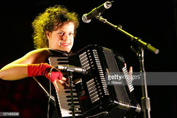Regine Chassagne of Arcade Fire during Vegoose Music Festival 2005 Day 2 Arcade Fire at Sam Boyd Stadium in Las Vegas Nevada United States