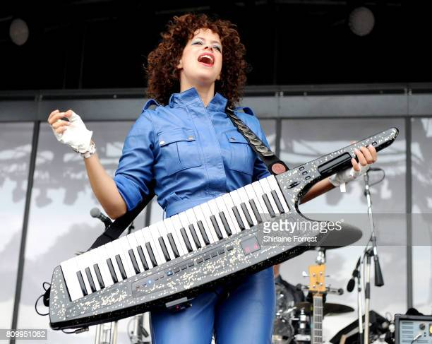 Regine Chassagne of Arcade Fire performs at Castlefield Bowl on July 6 2017 in Manchester England