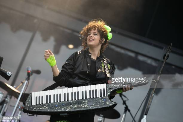 Regine Chassagne of Arcade Fire performs at Malahide Castle on June 14 2017 in Dublin Ireland