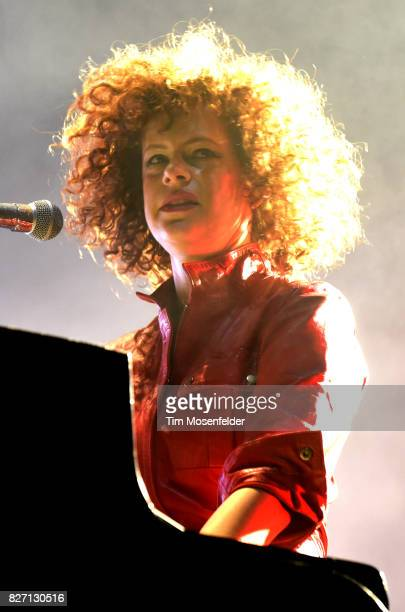 Regine Chassagne of Arcade Fire performs during Lollapalooza 2017 at Grant Park on August 6 2017 in Chicago Illinois