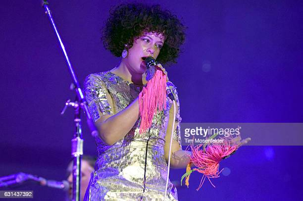 Regine Chassagne of Arcade Fire performs during the Voodoo Music Arts Experience at City Park on October 30 2016 in New Orleans Louisiana