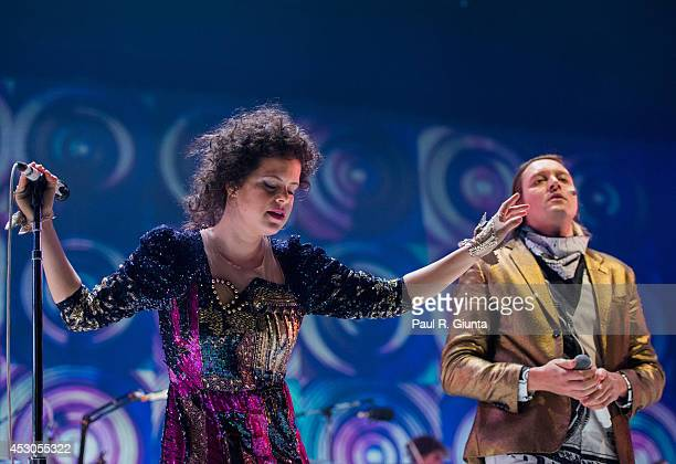 Regine Chassagne of Arcade Fire performs onstage at The Forum on August 1 2014 in Inglewood California