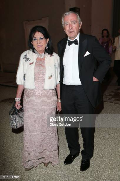 Regine Sixt and her husband Erich Sixt attend the 'Aida' premiere during the Salzburg Opera Festival 2017 on August 6 2017 in Salzburg Austria
