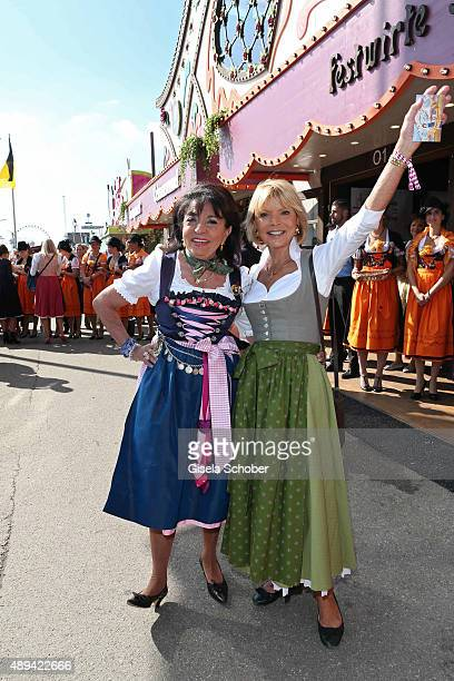 Regine Sixt and Uschi Glas attend the Regines Sixt Damen Wiesn during the Oktoberfest 2015 on September 21 2015 in Munich Germany