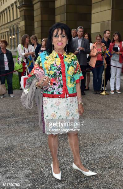 Regine Sixt arrives before the 'Arena di Verona' Concert starts in the Herkulessaal at Residenz on July 24 2017 in Munich Germany