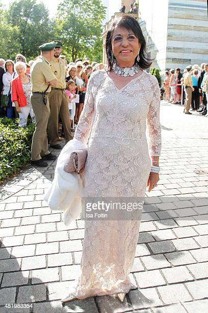 Regine Sixt attends the Bayreuth Festival 2015 Opening on July 25 2015 in Bayreuth Germany