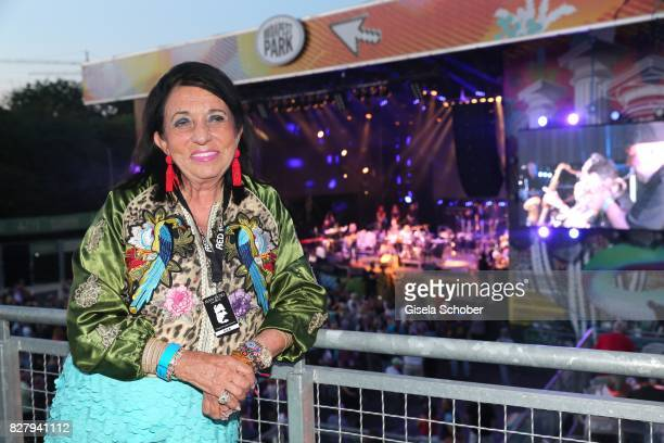 Regine Sixt attends the Man Doki Soulmates concert during the Sziget Festival at Budapest Park on August 8 2017 in Budapest Hungary The Sziget...