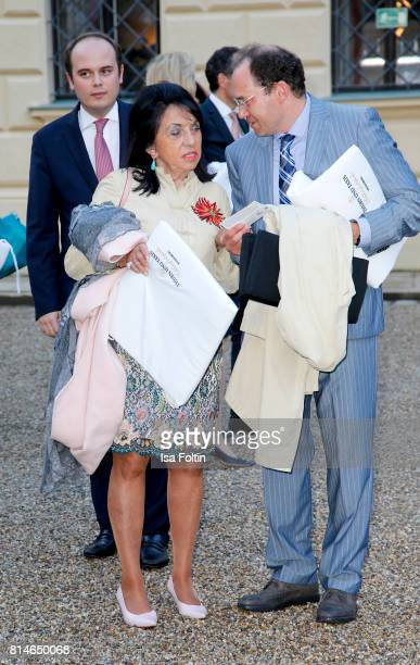 Regine Sixt attends the Thurn Taxis Castle Festival 2017 'Aida' Opera Premiere on July 14 2017 in Regensburg Germany