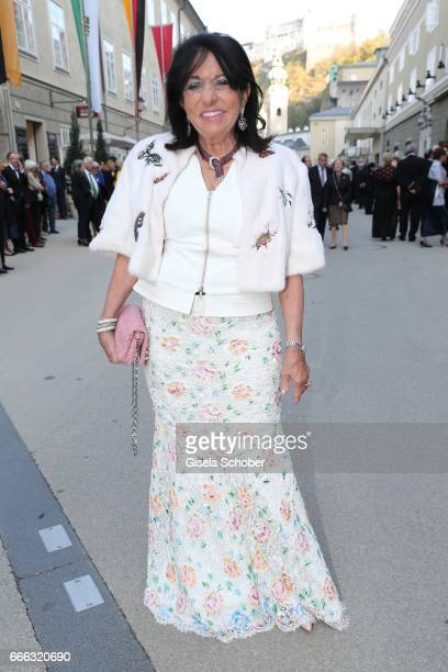 Regine Sixt during the opening of the Easter Festival 2017 'Walkuere' opera premiere on April 8 2017 in Salzburg Austria The opera is a recreation of...
