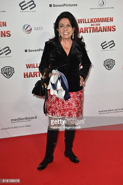 Regine Sixt during the 'Willkommen bei den Hartmanns' premiere at Mathaeser Filmpalast on October 25 2016 in Munich Germany