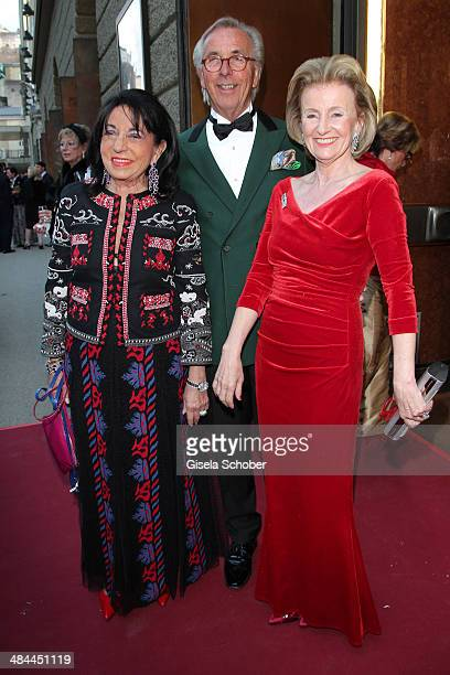 Regine Sixt Hayo F Willms and Elisabeth Guertler attend the opening of the easter festival 2014 on April 12 2014 in Salzburg Austria