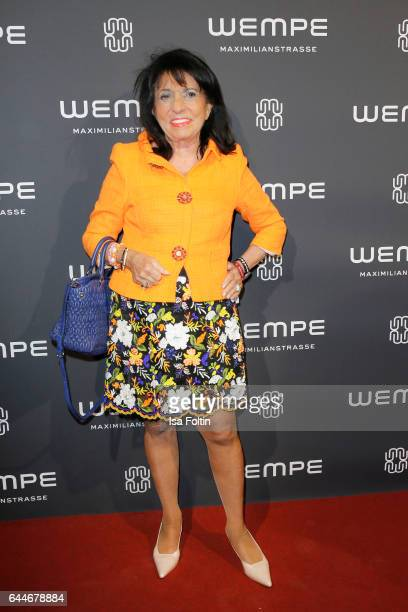 Regine Sixt owner of the Sixt car rental company attends the Wempe store opening on February 23 2017 in Munich Germany