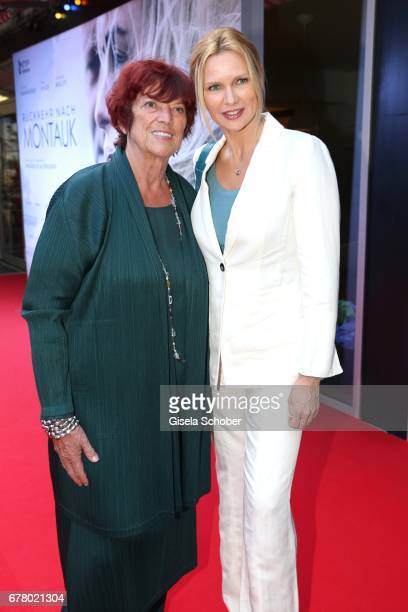 Regine Ziegler and Veronica Ferres during the premiere of the movie 'Rueckkehr nach Montauk' at City Kino on May 3 2017 in Munich Germany