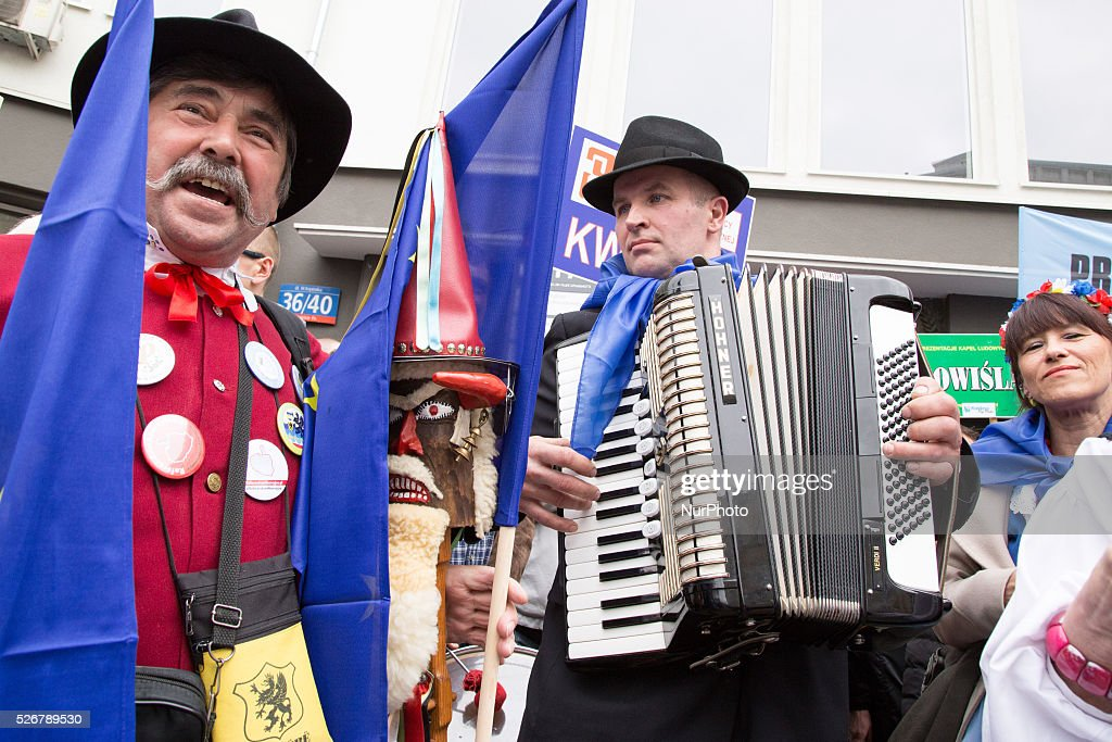 Regional band during International Workers' Day parade in Warsaw on May 1, 2016.