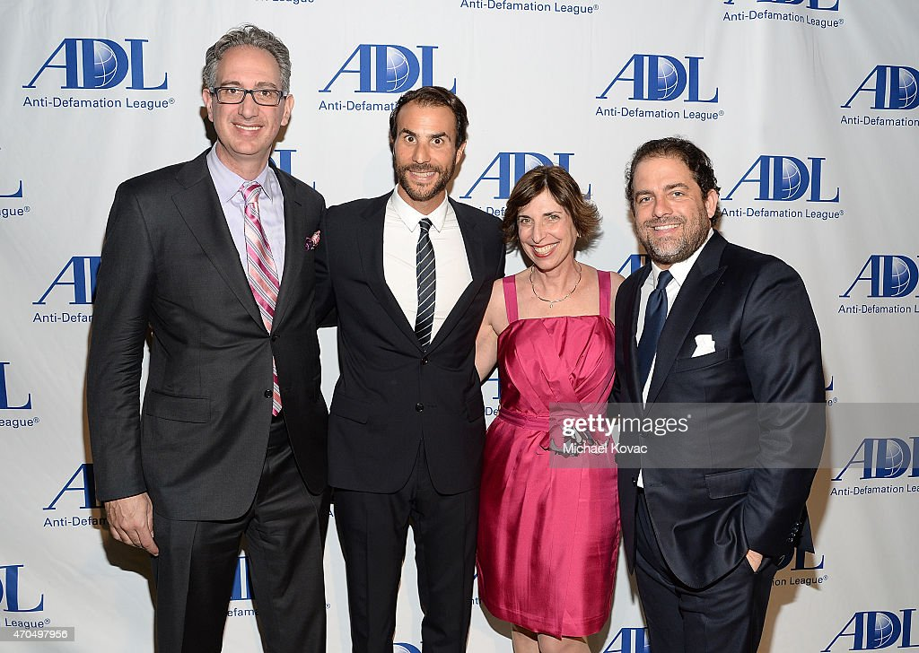 ADL Regional Board Chair Eric Kingsley, producer Ben Silverman, ADL Pacific Southwest Regional Director Amanda Susskind, and filmmaker Brett Ratner attend the Anti-Defamation League's 2015 Entertainment Industry Dinner at The Beverly Hilton Hotel on April 20, 2015 in Beverly Hills, California.