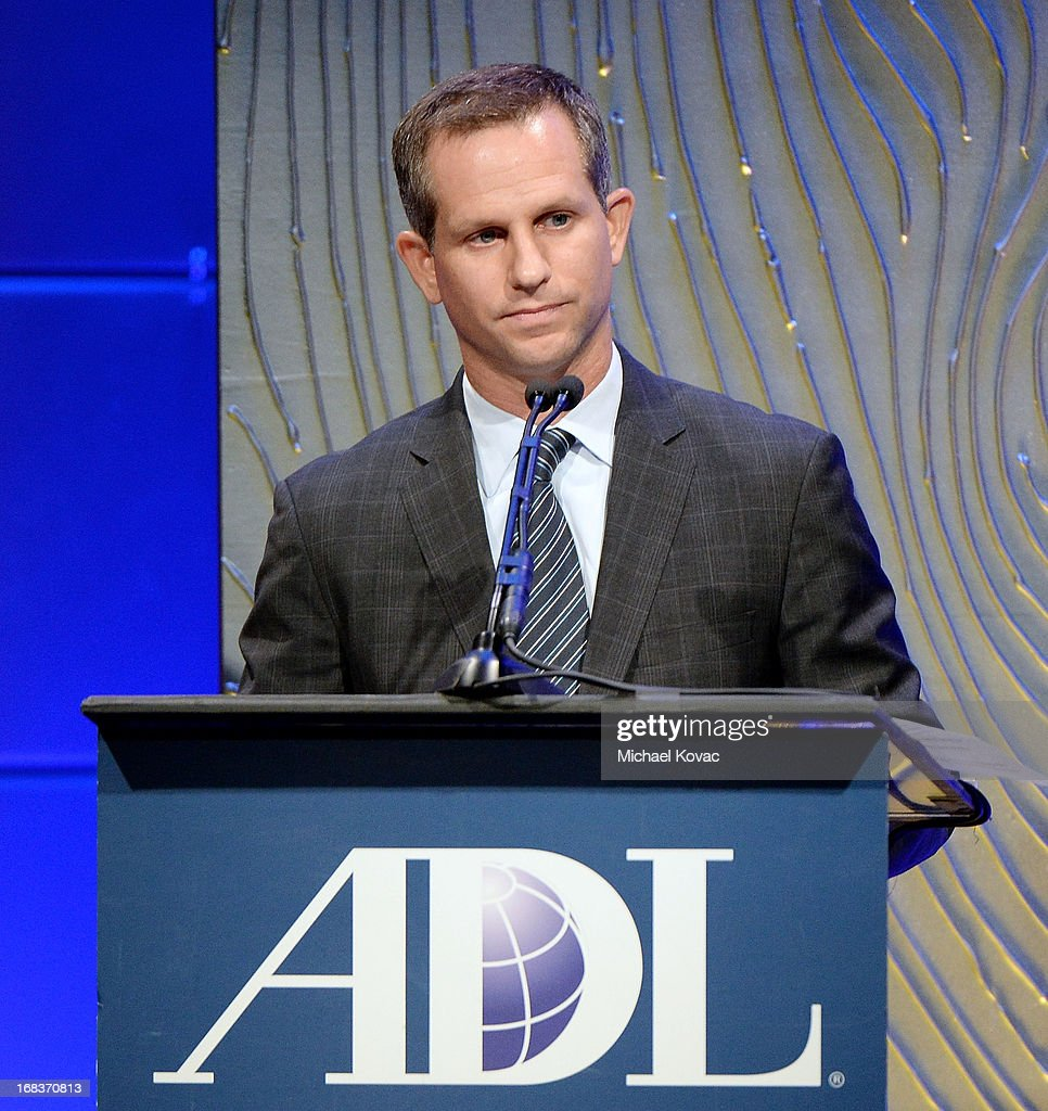 Regional Board Chair Seth Gerber presents onstage at the Anti-Defamation League Centennial Entertainment Industry Awards Dinner Honoring Jeffrey Katzenberg at The Beverly Hilton Hotel on May 8, 2013 in Beverly Hills, California.