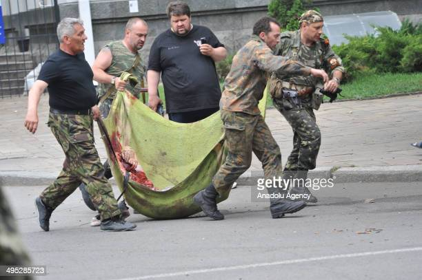 Regional State building seized by the separatists after an explosion in the Ukrainian city of Lugansk on June 2 2014 Ukrainian forces suffered new...